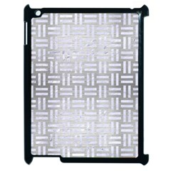Woven1 White Marble & Silver Brushed Metal Apple Ipad 2 Case (black) by trendistuff