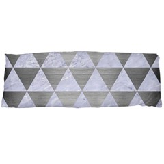 Triangle3 White Marble & Silver Brushed Metal Body Pillow Case (dakimakura) by trendistuff