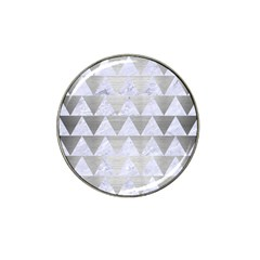 Triangle2 White Marble & Silver Brushed Metal Hat Clip Ball Marker (10 Pack) by trendistuff