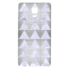 Triangle2 White Marble & Silver Brushed Metal Galaxy Note 4 Back Case by trendistuff