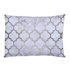Tile1 White Marble & Silver Brushed Metal (r) Pillow Case (two Sides) by trendistuff