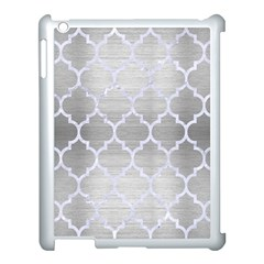 Tile1 White Marble & Silver Brushed Metal Apple Ipad 3/4 Case (white) by trendistuff
