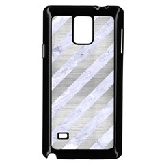 Stripes3 White Marble & Silver Brushed Metal (r) Samsung Galaxy Note 4 Case (black) by trendistuff