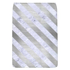 Stripes3 White Marble & Silver Brushed Metal Flap Covers (s)  by trendistuff