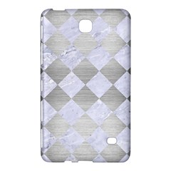 Square2 White Marble & Silver Brushed Metal Samsung Galaxy Tab 4 (8 ) Hardshell Case  by trendistuff
