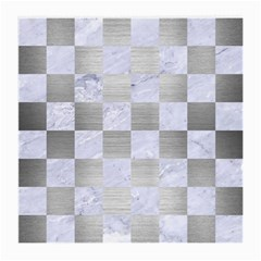 Square1 White Marble & Silver Brushed Metal Medium Glasses Cloth by trendistuff