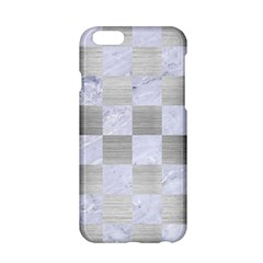 Square1 White Marble & Silver Brushed Metal Apple Iphone 6/6s Hardshell Case by trendistuff