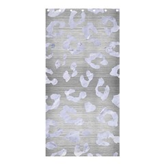 Skin5 White Marble & Silver Brushed Metal (r) Shower Curtain 36  X 72  (stall)  by trendistuff