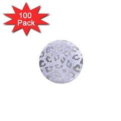 Skin5 White Marble & Silver Brushed Metal 1  Mini Magnets (100 Pack)  by trendistuff