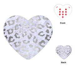 Skin5 White Marble & Silver Brushed Metal Playing Cards (heart)  by trendistuff