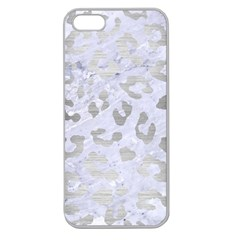 Skin5 White Marble & Silver Brushed Metal Apple Seamless Iphone 5 Case (clear) by trendistuff