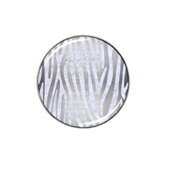 Skin4 White Marble & Silver Brushed Metal (r) Hat Clip Ball Marker (10 Pack) by trendistuff