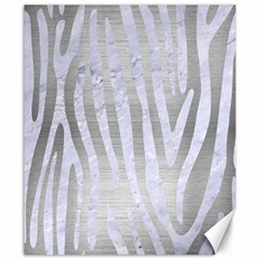 Skin4 White Marble & Silver Brushed Metal (r) Canvas 20  X 24   by trendistuff