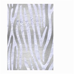 Skin4 White Marble & Silver Brushed Metal (r) Small Garden Flag (two Sides) by trendistuff