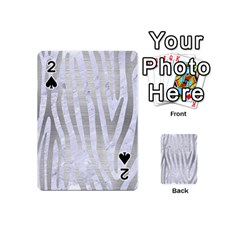 Skin4 White Marble & Silver Brushed Metal Playing Cards 54 (mini)  by trendistuff