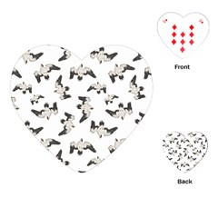 Birds Pattern Photo Collage Playing Cards (heart)  by dflcprints