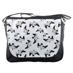 Birds Pattern Photo Collage Messenger Bags by dflcprints