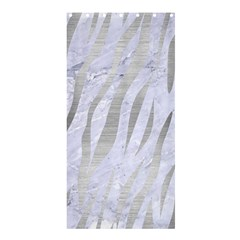Skin3 White Marble & Silver Brushed Metal (r) Shower Curtain 36  X 72  (stall)  by trendistuff