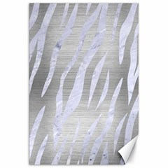Skin3 White Marble & Silver Brushed Metal Canvas 20  X 30   by trendistuff
