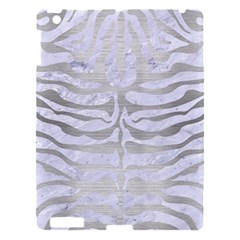 Skin2 White Marble & Silver Brushed Metal (r) Apple Ipad 3/4 Hardshell Case
