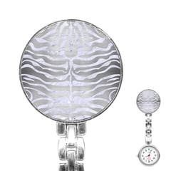 Skin2 White Marble & Silver Brushed Metal Stainless Steel Nurses Watch by trendistuff