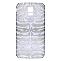 Skin2 White Marble & Silver Brushed Metal Samsung Galaxy S5 Back Case (white) by trendistuff