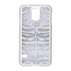 Skin2 White Marble & Silver Brushed Metal Samsung Galaxy S5 Case (white) by trendistuff