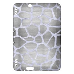 Skin1 White Marble & Silver Brushed Metal (r) Kindle Fire Hdx Hardshell Case by trendistuff