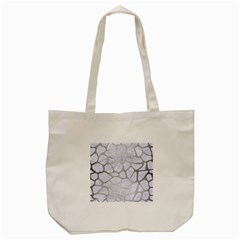 Skin1 White Marble & Silver Brushed Metal Tote Bag (cream) by trendistuff