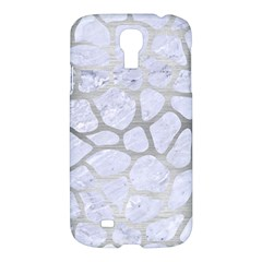 Skin1 White Marble & Silver Brushed Metal Samsung Galaxy S4 I9500/i9505 Hardshell Case by trendistuff