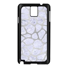 Skin1 White Marble & Silver Brushed Metal Samsung Galaxy Note 3 N9005 Case (black) by trendistuff