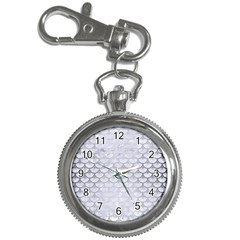 Scales3 White Marble & Silver Brushed Metal (r) Key Chain Watches by trendistuff