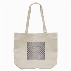 Scales3 White Marble & Silver Brushed Metal (r) Tote Bag (cream) by trendistuff