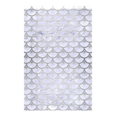 Scales3 White Marble & Silver Brushed Metal (r) Shower Curtain 48  X 72  (small)  by trendistuff