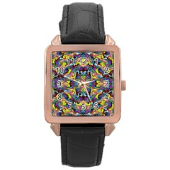 Pattern 12 Rose Gold Leather Watch
