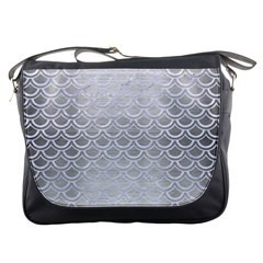 Scales2 White Marble & Silver Brushed Metal Messenger Bags by trendistuff