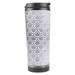 Scales2 White Marble & Silver Brushed Metal Travel Tumbler by trendistuff