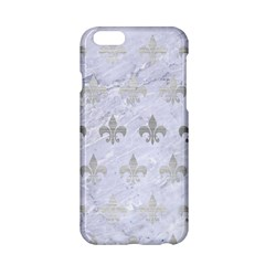 Royal1 White Marble & Silver Brushed Metal Apple Iphone 6/6s Hardshell Case by trendistuff