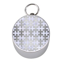 Puzzle1 White Marble & Silver Brushed Metal Mini Silver Compasses by trendistuff
