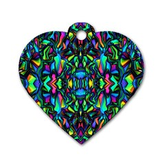 Pattern 14 Dog Tag Heart (one Side)
