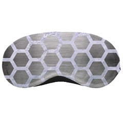 Hexagon2 White Marble & Silver Brushed Metal Sleeping Masks by trendistuff