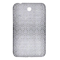 Hexagon1 White Marble & Silver Brushed Metal Samsung Galaxy Tab 3 (7 ) P3200 Hardshell Case  by trendistuff