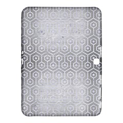 Hexagon1 White Marble & Silver Brushed Metal Samsung Galaxy Tab 4 (10 1 ) Hardshell Case  by trendistuff