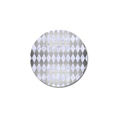 Diamond1 White Marble & Silver Brushed Metal Golf Ball Marker (4 Pack) by trendistuff