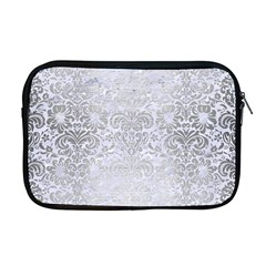 Damask2 White Marble & Silver Brushed Metal (r) Apple Macbook Pro 17  Zipper Case by trendistuff