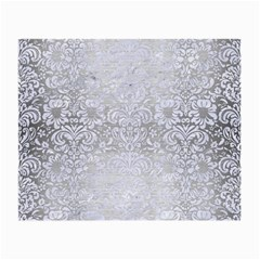 Damask2 White Marble & Silver Brushed Metal Small Glasses Cloth by trendistuff