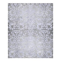 Damask2 White Marble & Silver Brushed Metal Shower Curtain 60  X 72  (medium)  by trendistuff