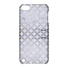 Circles3 White Marble & Silver Brushed Metal (r) Apple Ipod Touch 5 Hardshell Case With Stand by trendistuff