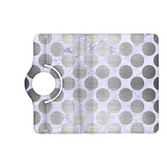 Circles2 White Marble & Silver Brushed Metal (r) Kindle Fire Hd (2013) Flip 360 Case by trendistuff
