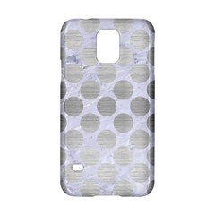 Circles2 White Marble & Silver Brushed Metal (r) Samsung Galaxy S5 Hardshell Case  by trendistuff